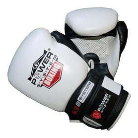 Перчатки боксерские Power System Boxing Gloves Impact White
