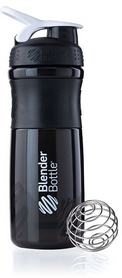 Шейкер BlenderBottle SportMixer 820 мл с шариком Black/White
