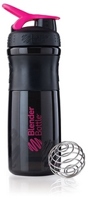 Шейкер BlenderBottle SportMixer 590 мл с шариком Black/Pink