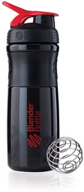 Шейкер BlenderBottle SportMixer 590 мл с шариком Black/Red