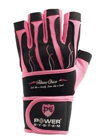 Перчатки спортивные Power System Fitness Chica Pink