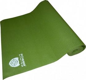 Коврик для йоги (йога-мат) Power System Fitness зеленый