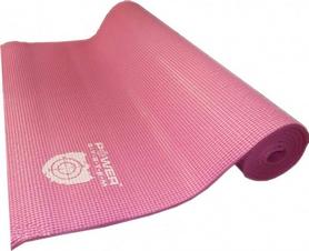 Коврик для йоги (йога-мат) Power System Fitness розовый