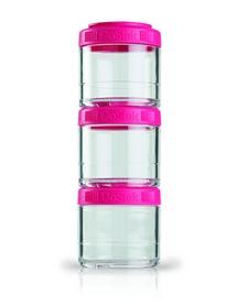 Контейнер для спортивного питания BlenderBottle GoStak 3 Pak Original 300 мл розовый