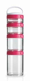 Контейнер для спортивного питания BlenderBottle GoStak Starter 4 Pak Original 350 мл розовый