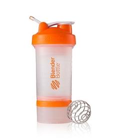 Шейкер BlenderBottle ProStak Original 650 мл с шариком прозрачный/оранжевый