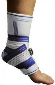 Суппорт голеностопа Power System Ankle Support Pro White/Blue (2 шт)