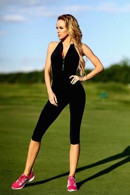 Комбинезон женский Designed For Fitness Zipper Capri Black