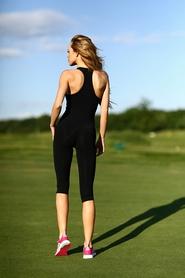 Фото 2 к товару Комбинезон женский Designed For Fitness Zipper Capri Black