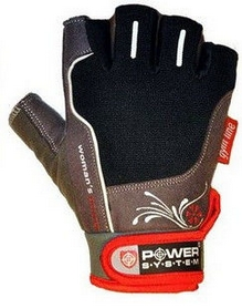 Перчатки спортивные Power System Woman's Power PS-2570 Black-Red