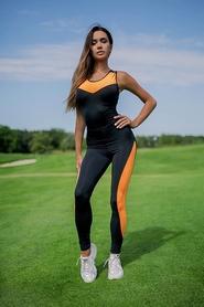 Комбинезон женский Designed For Fitness Sexy Black with Orange