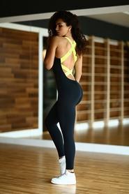 Фото 2 к товару Комбинезон женский Designed For Fitness Black N Lemon