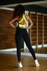 Комбинезон женский Designed For Fitness Black N Lemon - фото 3