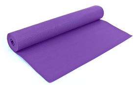 Коврик для йоги (йога-мат) фиолетовый 4 мм