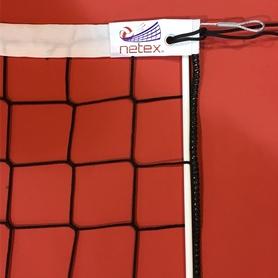 Фото 2 к товару Сетка для волейбола профессиональная Netex с антеннами IV (черная)
