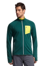 Термокуртка мужская Icebreaker Atom LS Zip MEN pine/chartreuse/white