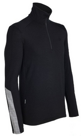 Термофутболка мужская Icebreaker BF 260 Apex LS Half Zip Men black/metro