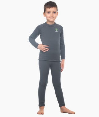 Комплект термобелья детский Catch Joy Charcoal серый