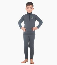 Комплект термобелья детский Catch Joy Zip Charcoal серый