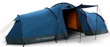 Палатка пятиместная Trimm Camp II lagoon/grey синяя