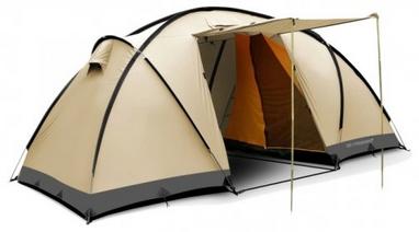 Палатка четырехместная Trimm Comfort II sand/grey бежевая