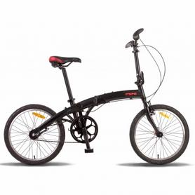 """Велосипед складной Pride Mini 3sp 20"""" 2016 черно-красный матовый, рама - 20"""""""