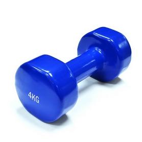 Гантели виниловые Spart, 2 шт 4 кг - синие (DB2113-4Blue)
