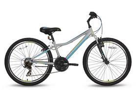 """Велосипед подростковый горный Pride Brave 24"""" 2016 серо-синий матовый, рама - 12"""""""