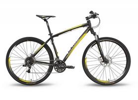 """Велосипед гибридный Pride Cross 3.0 2016 - 28"""", рама - 21"""", черно-жёлтый матовый (SKD-98-55)"""