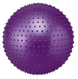 Мяч для фитнеса (фитбол) массажный 55см Body Skulpture фиолетовый