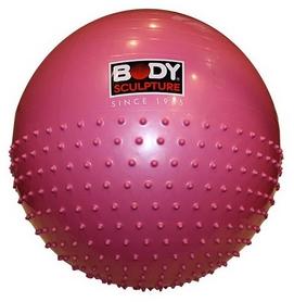 Мяч для фитнеса (фитбол) полумассажный 65см Body Skulpture розовый
