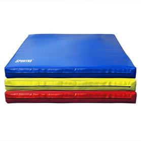 Мат гимнастический детский Sportko МГ-3 100x100x10см синий