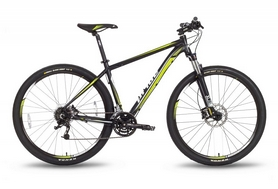 """Велосипед горный Pride XC-29 HD 2016 - 29"""", рама - 21"""", черно-зеленый матовый (SKD-43-67)"""