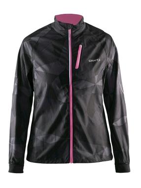 Куртка женская Craft Devotion Jacket W черная с розовым