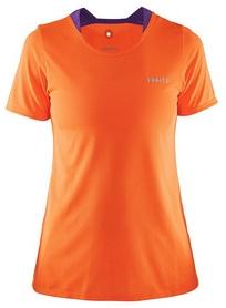 Распродажа*! Футболка женская Craft Joy SS Shirt Wmn оранжевая - размер M