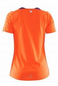 Фото 2 к товару Футболка женская Craft Joy SS Shirt Wmn оранжевая