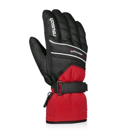 Перчатки горнолыжные мужские Reusch Powderstar R-texxt fire red/black