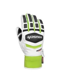 Перчатки горнолыжные унисекс Reusch Training R-TEX XT white/neon green