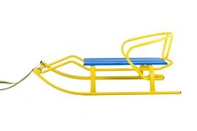 Санки зимние Спорт Ф1 желто-синие