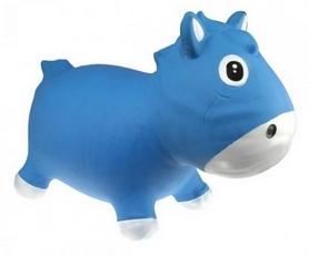 Фото 1 к товару Прыгун-лошадка Kidzzfarm Гарри с насосом голубой