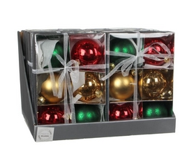 Ёлочные шары Christmas House 6 шт золотисто-зеленый