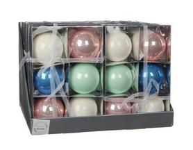 Ёлочные шары Christmas House 6 шт разноцветные