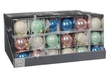Ёлочные шары Christmas House 9 шт разноцветные
