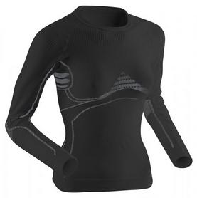 Термофуболка женская X-Bionic Extra Warm Long Sleeves Roundneck black/pearl gray