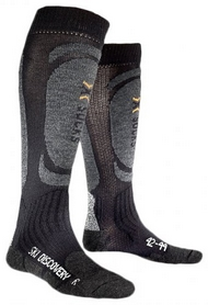 Термоноски унисекс X-Socks Skiing Discovery Black-Anthracite