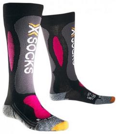 Термоноски горнолыжные женские X-Socks Ski Carving Silver Lady Black/Violet