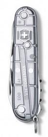 Фото 3 к товару Нож швейцарский Victorinox Huntsman 91 мм серый/прозрачный