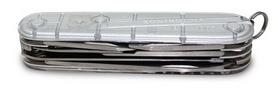 Фото 4 к товару Нож швейцарский Victorinox Huntsman 91 мм серый/прозрачный
