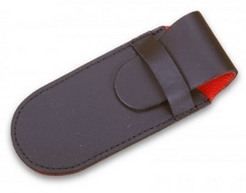 Чехол для складных ножей Victorinox кожаный чёрный - 1-2 слоя