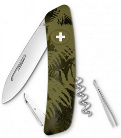 Фото 1 к товару Нож швейцарский Swiza C01 Silva хаки